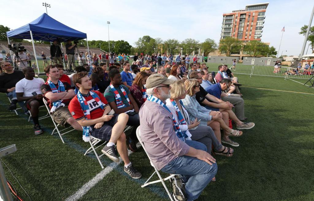 L'officialisation de l'équipe d'USL League one de Madison. Photo via MadisonProSoccer